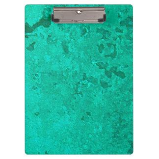 Green Copper Verdigris Patina Dot Clipboard