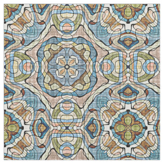 Coral And Teal Fabric Zazzle