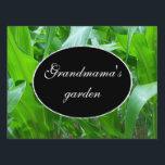 "Green corn stalks/leaves photo yard sign<br><div class=""desc"">Vivid green corn stalks growing in the vegetable garden.</div>"
