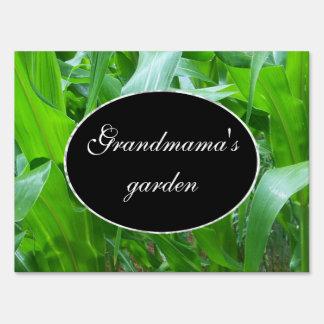 Green corn stalks/leaves photo yard sign