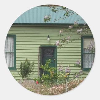 Green Cottage Classic Round Sticker