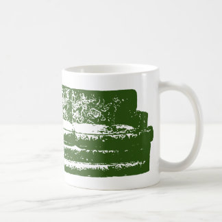green couch classic white coffee mug