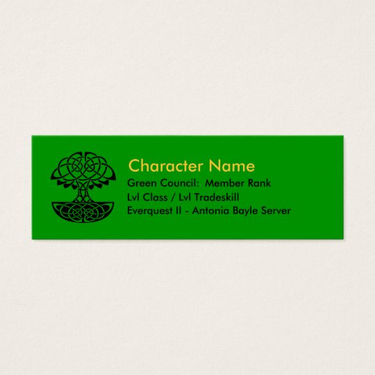 Green Council Member Cards
