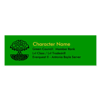 Green Council Member Cards Business Cards