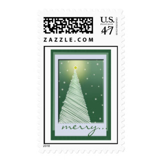 Green Country Christmas Tree - Postage