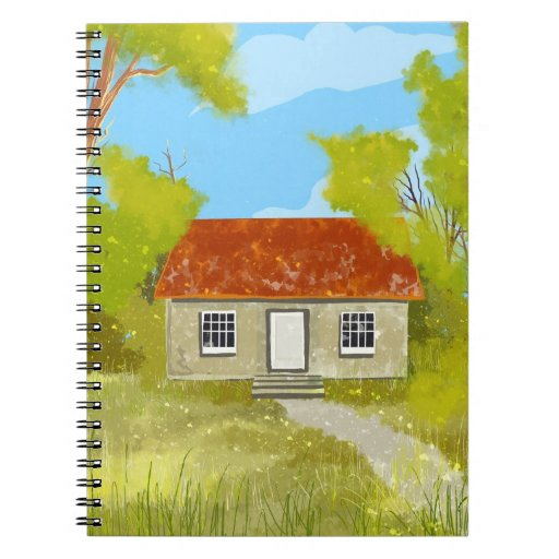 green country cottage Notebook