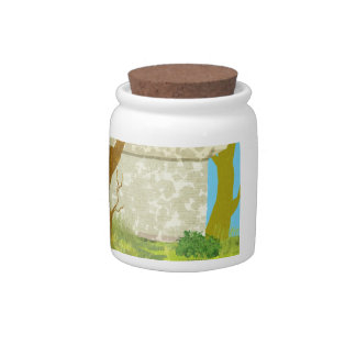 Green country house Candy Jar