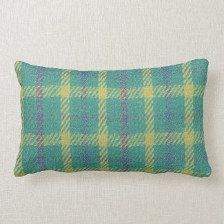 Green Country Plaid Pillows