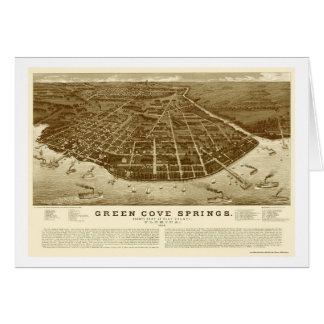 Green Cove Springs, FL Panoramic Map - 1885 Greeting Card