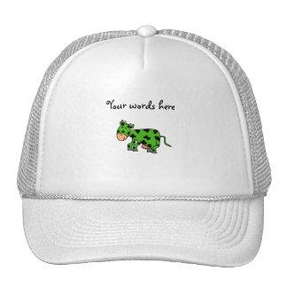 Green cow trucker hat