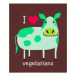 Green Cow - Vegetarian Poster
