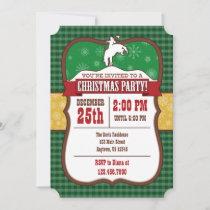 Green Cowboy Christmas Party Invitation
