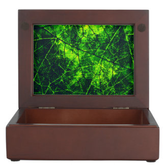 Green Crackled Lacquer Grunge Texture Pattern Keepsake Box