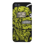 Green crazy head iPhone 5 cases