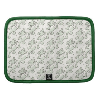 Green Cream Abstract Shapes Pattern Organizers