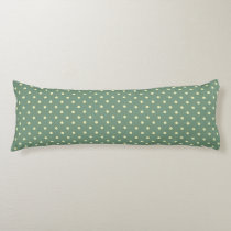 Green/Cream Grade A Cotton Body Pillow