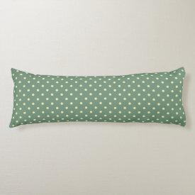 Green/Cream Grade A Cotton Body Pillow