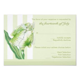 Green Cream Tulip RSVP Card