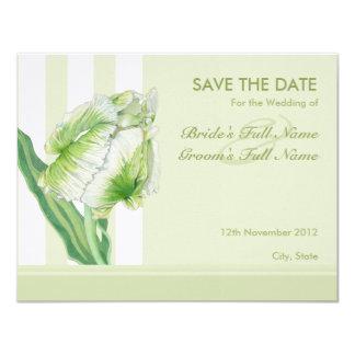 Green Cream Tulip Save the Date Announcement