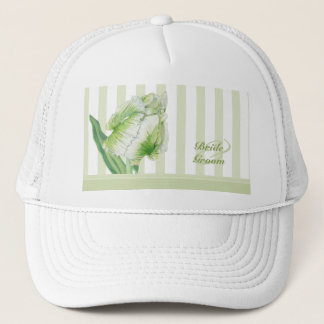 Green Cream Tulip Wedding Hat