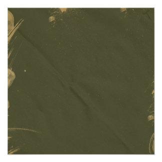 Green Creased Stained background Poster