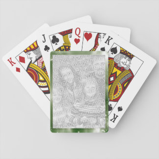Green Create Your Own Personalized Photo Frame Deck Of Cards