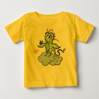 Green Creature & Butterfly Baby T-Shirt