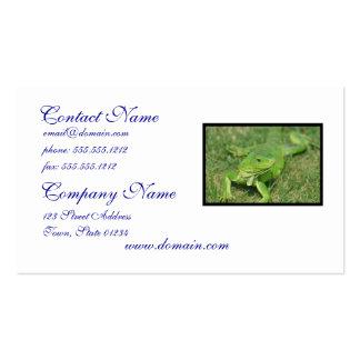 Green Creeping Lizard Business Card Template