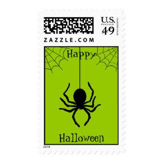 Green Creepy Spider Halloween Postage
