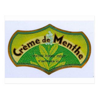 Green Creme de Menthe Postcard