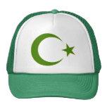 GREEN CRESCENT 3D TRUCKER HATS