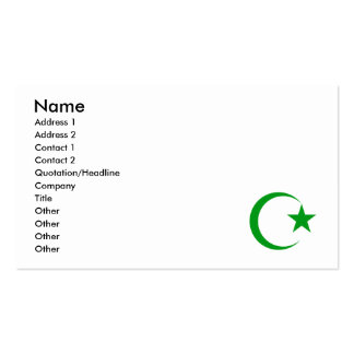 Green Crescent & Star.png Business Cards
