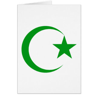 Green Crescent & Star.png Greeting Card