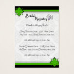 Green Crest Damask Bridal Registry Cards