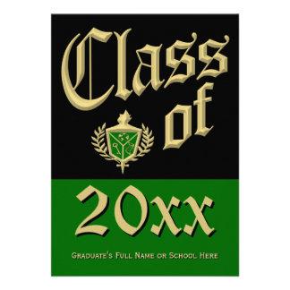 Green Crest Graduation Announcement