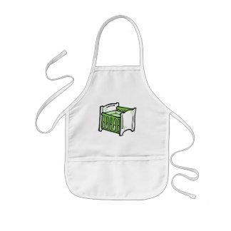 green crib kids' apron