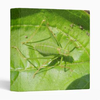 Green Cricket Camouflage Binder