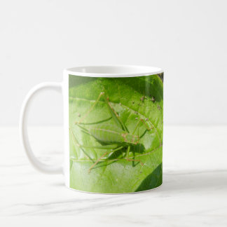 Green Cricket Camouflage Bug Mug