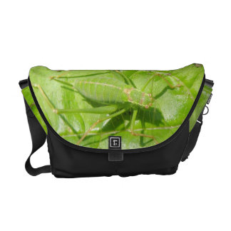 Green Cricket Camouflage Messenger Bag