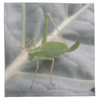 Green Cricket Macro Napkin