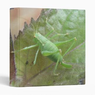 Green Cricket on a Leaf Binder