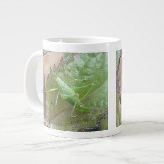 Green Cricket on a Leaf Mug