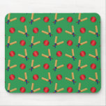 green cricket pattern mouse pad