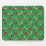 green cricket pattern mousepads