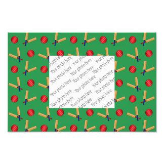 green cricket pattern photographic print