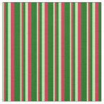 [ Thumbnail: Green, Crimson, and Dark Green Colored Lines Fabric ]