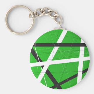 Green Criss Cross Background Keychain