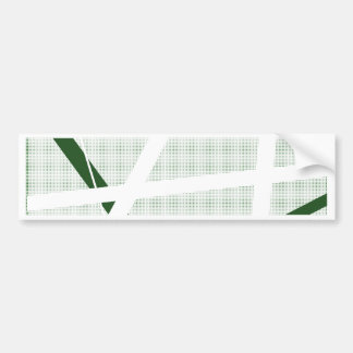 Green Criss Cross Halftone Bumper Sticker