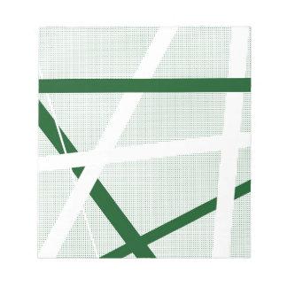 Green Criss Cross Halftone Notepad