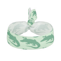 Green Crocodile Alligator Animals Cute Ribbon Hair Tie
